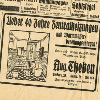 August Theben Sanitär und Heizung - Historie